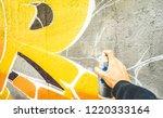 detail of street artist... | Shutterstock . vector #1220333164
