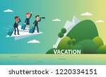 business people flying on a... | Shutterstock .eps vector #1220334151