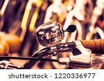 bicycle handle bar and bicycle...   Shutterstock . vector #1220336977