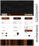dark brown vector web ui kit...