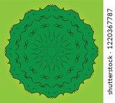 islamic art for pine tree green ... | Shutterstock .eps vector #1220367787