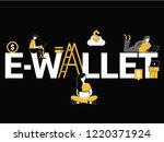 creative word concept e wallet... | Shutterstock .eps vector #1220371924