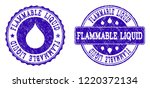 grunge flammable liquid stamp... | Shutterstock .eps vector #1220372134