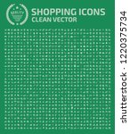 shopping vector icon set design | Shutterstock .eps vector #1220375734