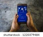 chiang mai  thailand nov 5 2018 ... | Shutterstock . vector #1220379484