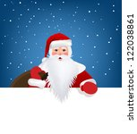 santa claus pointing in white... | Shutterstock .eps vector #122038861