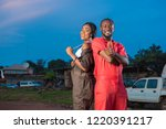 young black male and female...   Shutterstock . vector #1220391217