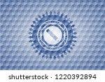 pencil icon inside blue badge... | Shutterstock .eps vector #1220392894