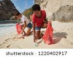 no plastic concept. two... | Shutterstock . vector #1220402917