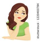 frustrated sad woman feeling... | Shutterstock .eps vector #1220403784