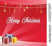 merry christmas   illustration... | Shutterstock .eps vector #1220427307