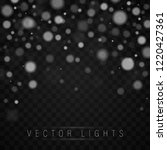 abstract blue bokeh background. ... | Shutterstock .eps vector #1220427361