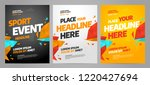 layout poster template design... | Shutterstock .eps vector #1220427694