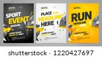 layout poster template design... | Shutterstock .eps vector #1220427697