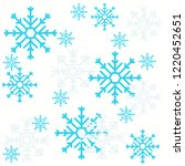seamless pattern of snowflakes... | Shutterstock .eps vector #1220452651