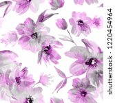 seamless floral pattern with... | Shutterstock . vector #1220454964
