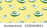 vector seamless avocado pattern ... | Shutterstock .eps vector #1220463811