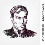 boris pasternak vector sketch... | Shutterstock .eps vector #1220491201