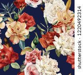 seamless floral pattern with... | Shutterstock . vector #1220492314