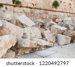 stones thrown by the romans from the second temple to the street below after the destruction of the temple in 70 CE