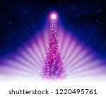 christmas card with a shiny... | Shutterstock .eps vector #1220495761