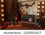 christmas tree with red... | Shutterstock . vector #1220501617