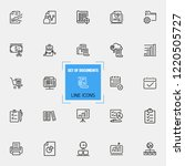 documents icons. set of  line... | Shutterstock .eps vector #1220505727