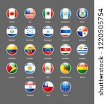 vector shiny buttons with flags ... | Shutterstock .eps vector #1220505754