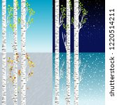 four seasons illustration with... | Shutterstock .eps vector #1220514211