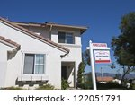 house with foreclosure sign... | Shutterstock . vector #122051791