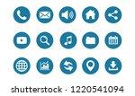 web icon set vector  contact us ...   Shutterstock .eps vector #1220541094