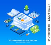international accounting day... | Shutterstock . vector #1220546134