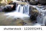beautiful water fall in my... | Shutterstock . vector #1220552491