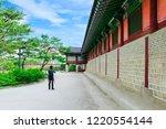 gyeongbokgung palace area....   Shutterstock . vector #1220554144