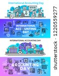 accounting day banner set.... | Shutterstock . vector #1220559277