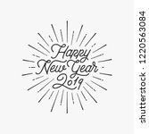 happy new year card with... | Shutterstock .eps vector #1220563084