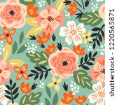 vector seamless pattern with... | Shutterstock .eps vector #1220565871