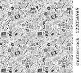 doodles    seamless pattern | Shutterstock .eps vector #122056969