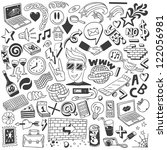 doodles collection | Shutterstock .eps vector #122056981