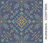 ukrainian embroidery cross... | Shutterstock .eps vector #1220573041