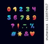 alphabet cartoon design.... | Shutterstock .eps vector #1220574517