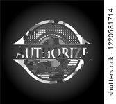 authorize written on a grey... | Shutterstock .eps vector #1220581714