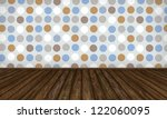 interior background with dotted ... | Shutterstock . vector #122060095