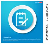 document icon abstract blue web ...