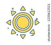 sun icon design vector | Shutterstock .eps vector #1220612521