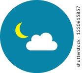 modern weather flat icons set.... | Shutterstock .eps vector #1220615857