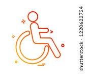 handicapped icon design vector | Shutterstock .eps vector #1220622724