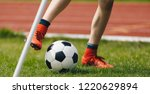 close up of young soccer player ... | Shutterstock . vector #1220629894
