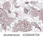 seamless folk indian pattern    Shutterstock .eps vector #1220634724