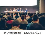 rear view of audience in the... | Shutterstock . vector #1220637127